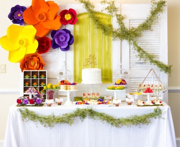 bold-and-bright-baby-shower-treat-table