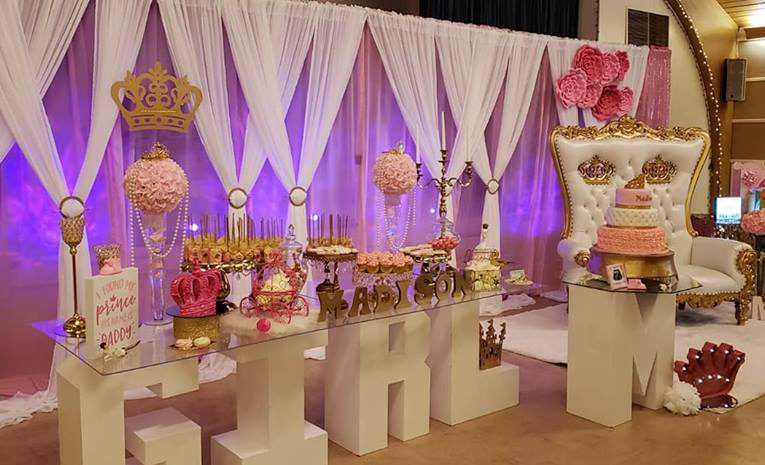 its-a-girl-pink-and-gold-princess-baby-shower