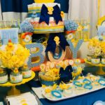 Blue and Yellow Rubber Ducky Baby Shower