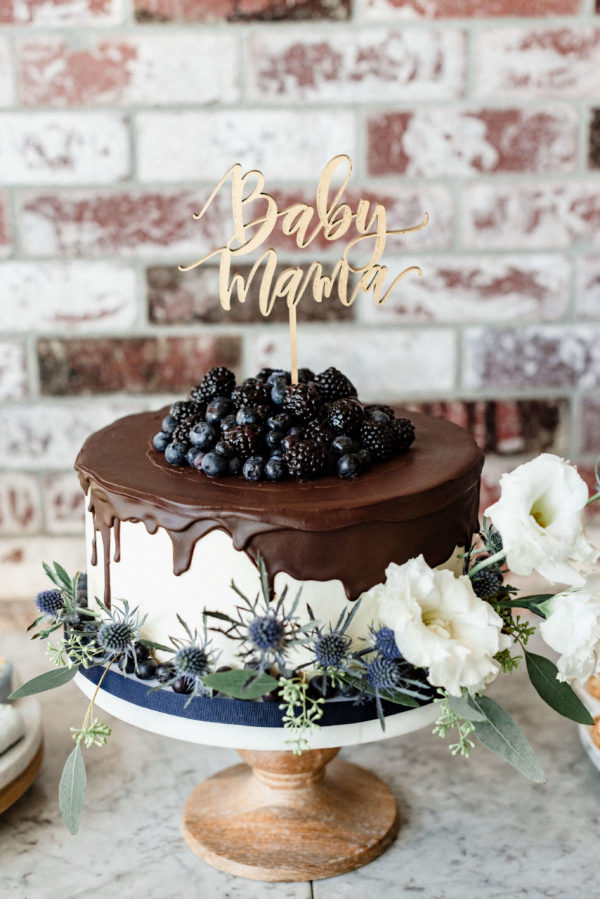blueberry-and-chocolate-baby-shower-cake