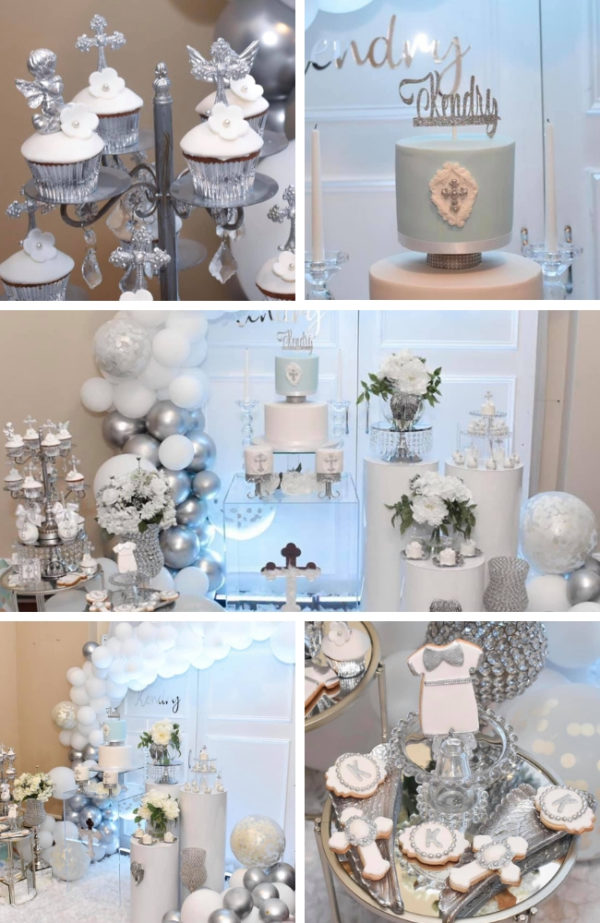 Baby Blue And Silver Baptism Baby Shower Ideas Themes