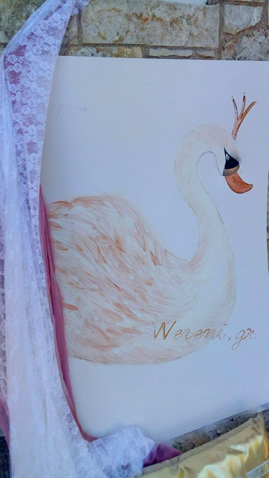 handpainted-swan-decoration
