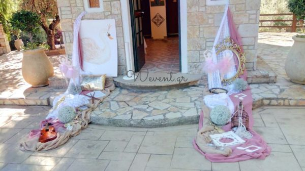 swan-baby-shower-baptism-welcome-entrance