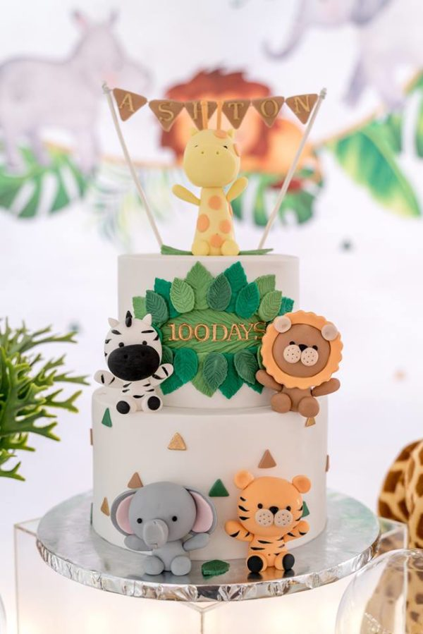 100-days-modern-safari-cake