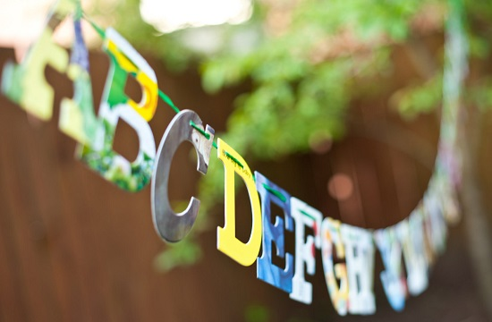 Alphabet Nursery Decor Banner