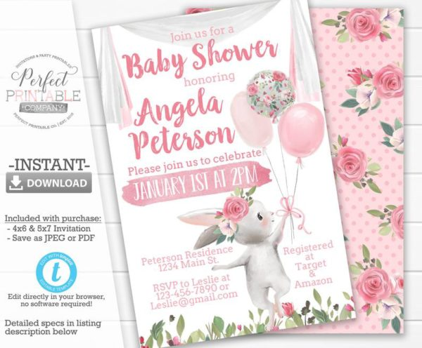 floral-bunny-baby-shower-invitation