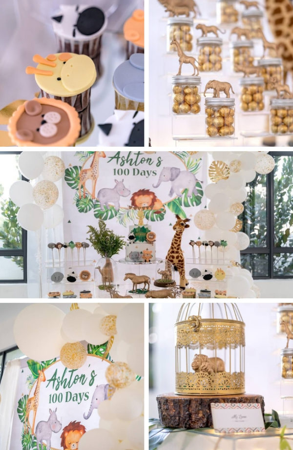 modern-gold-safari-baby-shower-ideas