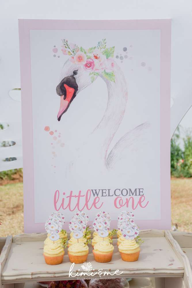 sweet-swan-princess-shower-welcome-sign