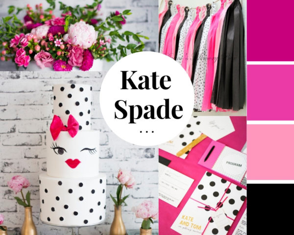 hot-pink-black-gold-kate-spade-baby-shower
