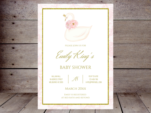 pink-swan-baby-shower-invitation-editable