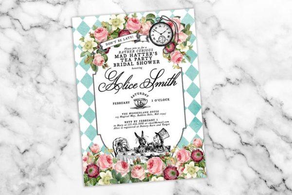 alice-in-wonderland-theme-tea-custom-invitation