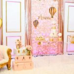 Blush and Gold Hot Air Balloon Baby Shower