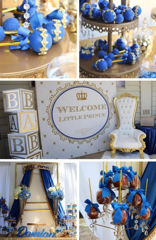 royal prince baby shower mood board