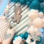 Teal Baby Elephant Baby Shower