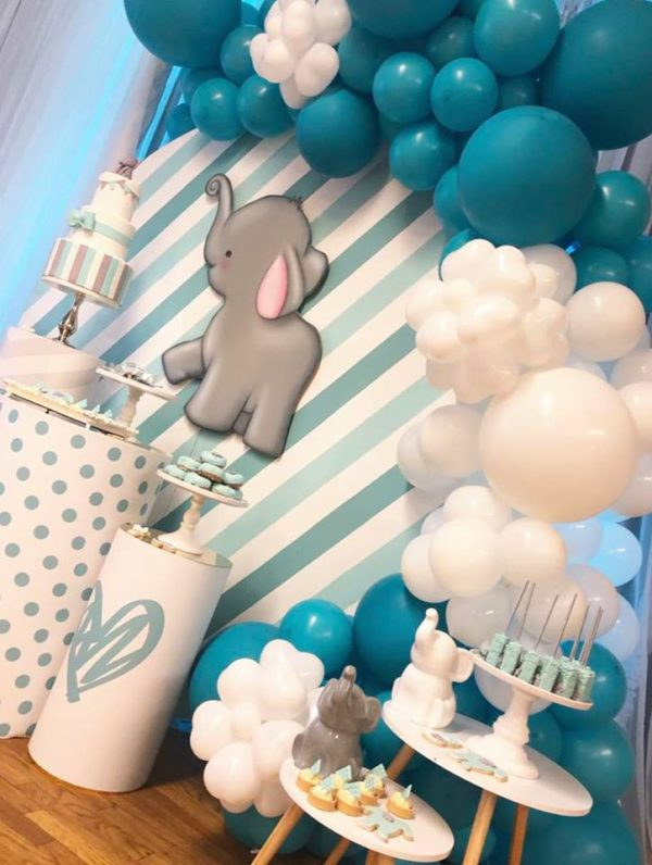 teal-and-white-elephant-baby-shower-ideas