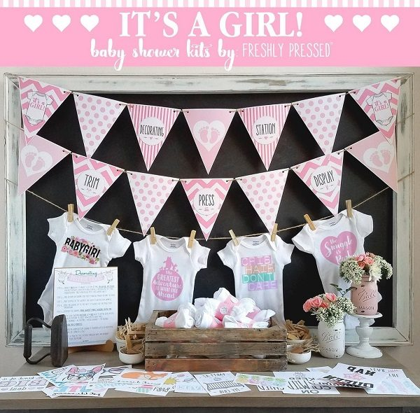 Its A Girl Onesie Decorating Kit