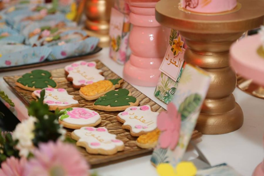 Tropical-Baby-Naming-Ceremony-Sugar-Cookies