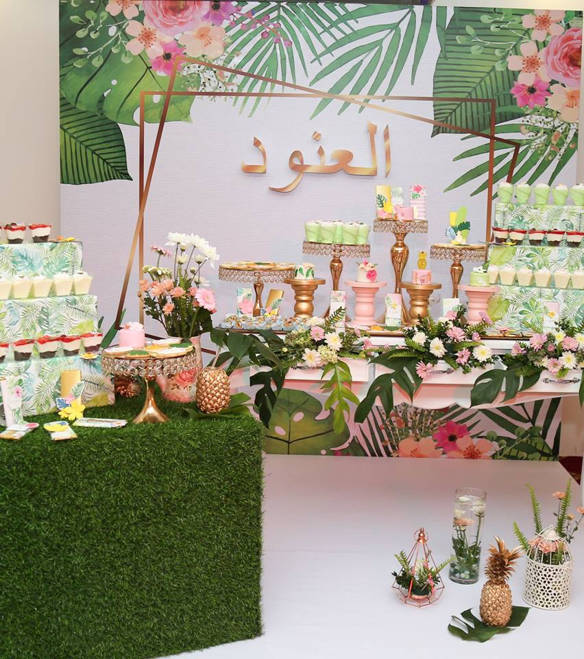 Tropical-Baby-Naming-Ceremony-Tables