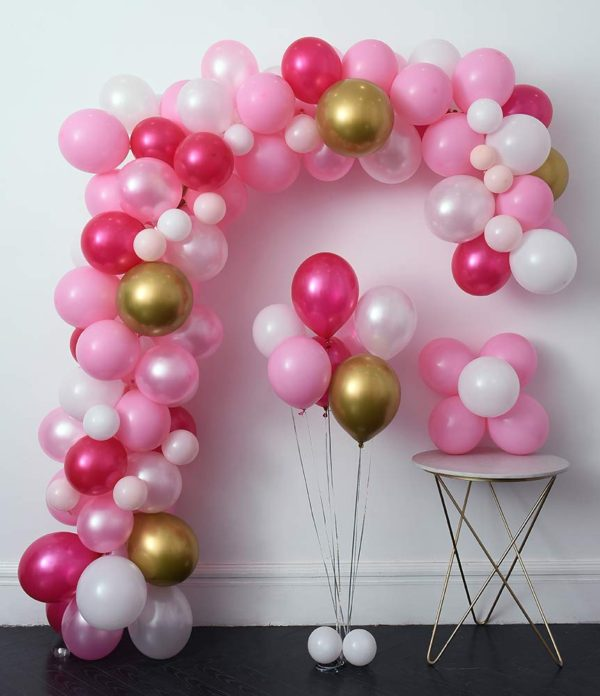 pink-hello-kitty-baby-shower-decoration-balloon-arc