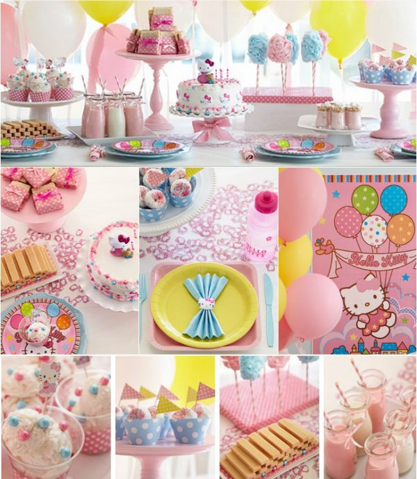 pink hello kitty baby shower decoration ideas