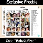 Free Guess the Celebrity Baby Game Instant Download!