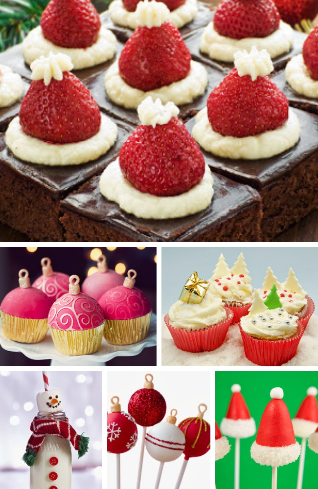 Christmas baby shower food ideas board
