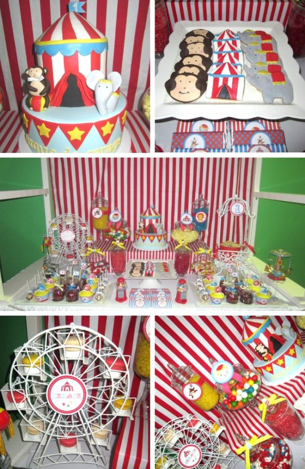 Circus Birthday Party - Circus Baby Shower Inspirations