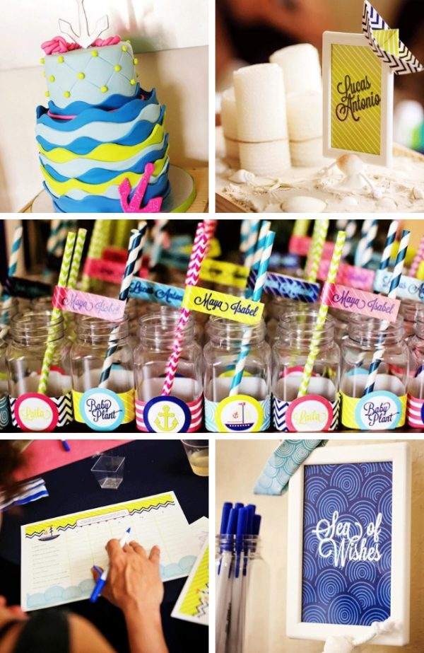 Sailing into Motherhood Name Reveal Baby Shower