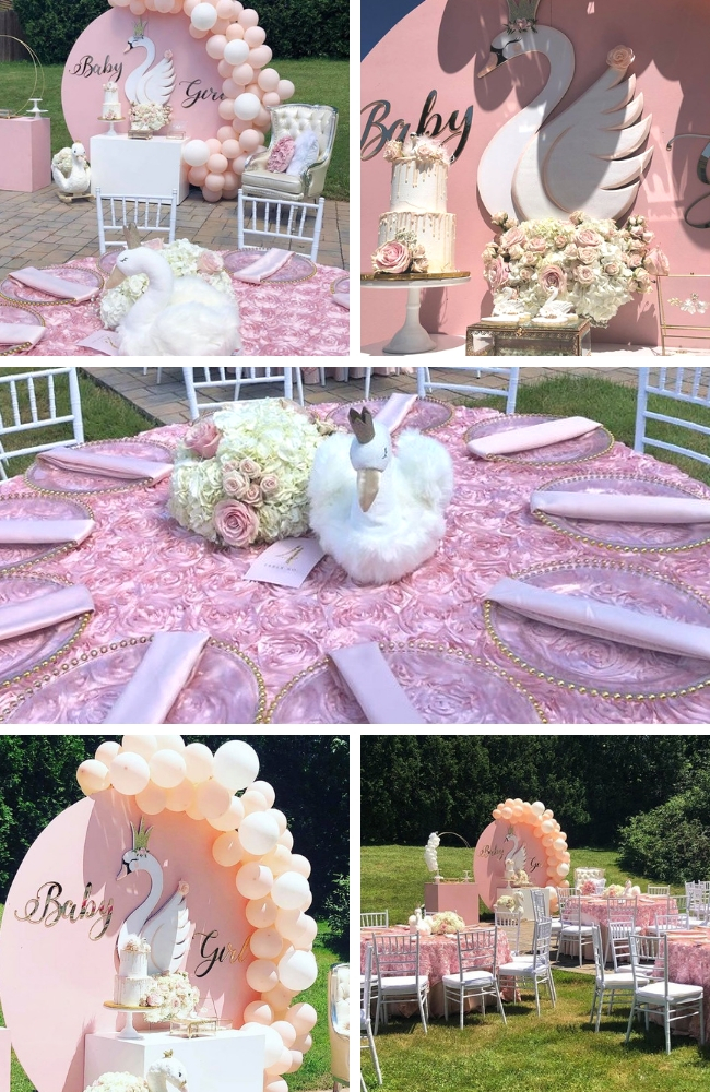Pink-Princess-Swan-Baby-Shower