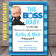 free editable boss baby shower invitation