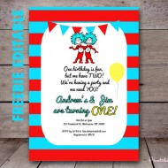 free editable dr seuss twin baby shower invitation