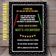 free jedi star wars editable invitation