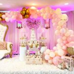 Gold and Pink Blush Ballerina Baby Shower