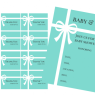 free tiffany baby shower thank you note