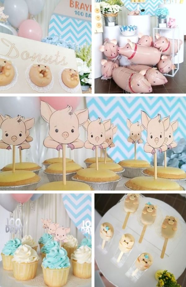 Oink Oink Piggy Theme Celebration Tablescape