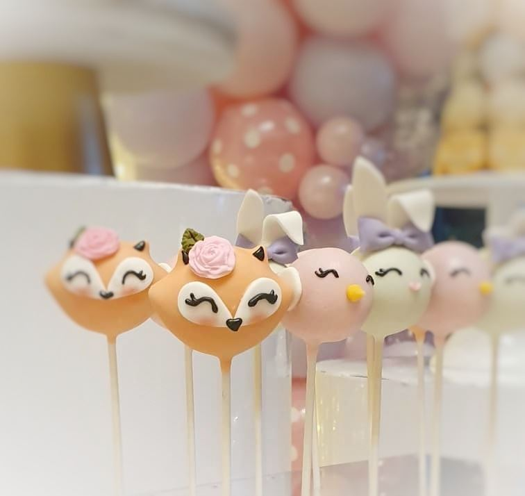 fox and bunny cakepops