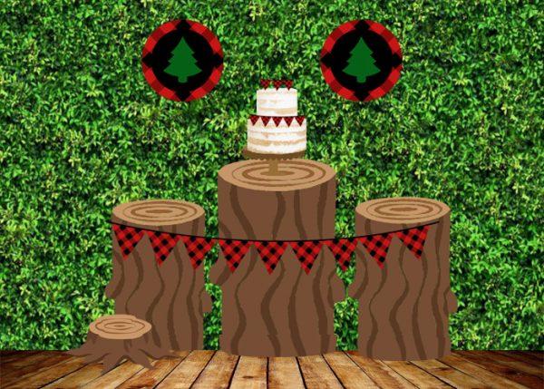free editable lumberjack party  mockup