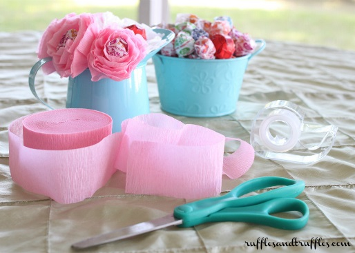 DIY lollipop flower favors