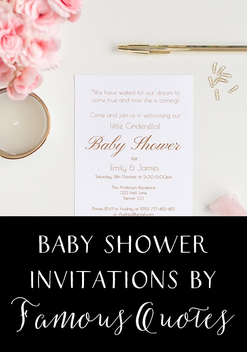 Tips on Baby Shower Invitation Wording by Famous Quotes