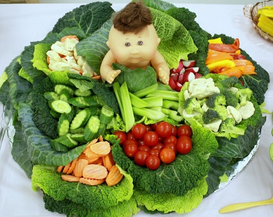 cabbage patch baby shower salad platter