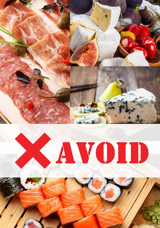 food to avoid at baby shower events