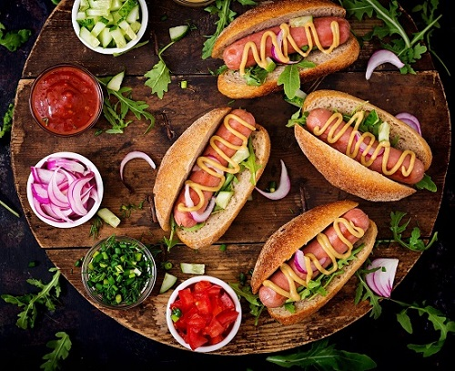 gourmet hot dogs bar