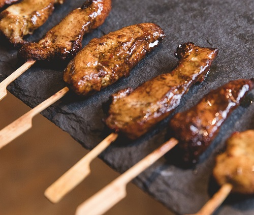 marinated meat skewers