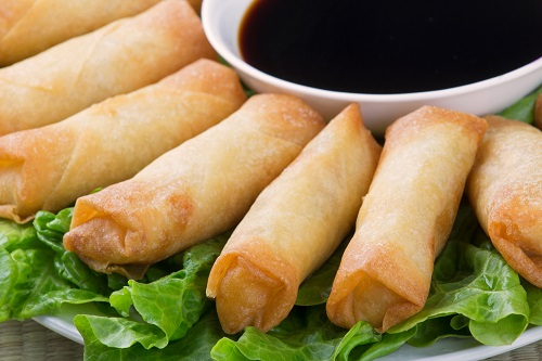 springrolls finger food