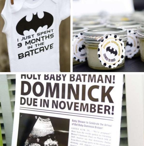 superhero batman baby shower photos