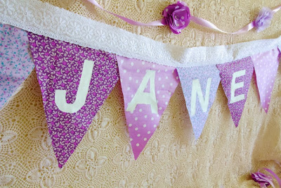 DIY completed shabby chic bunting
