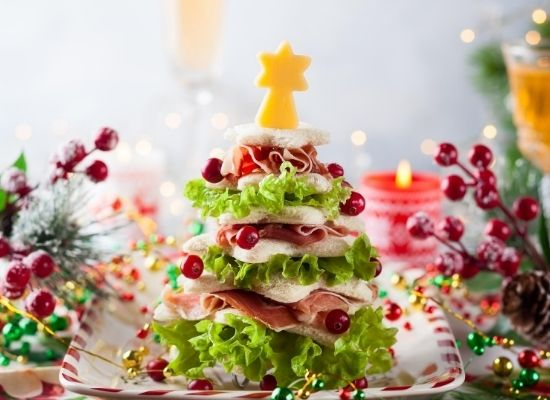 christmas tree salad tower