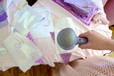 printing on bunting DIY