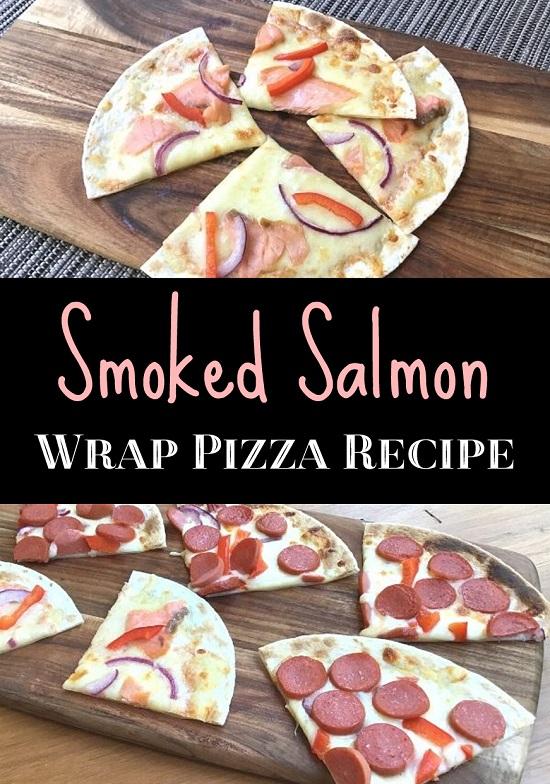 Easy Smoked Salmon Wrap Pizza Recipe