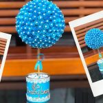 DIY Craft Paper Flowerpot Centerpiece for Parties
